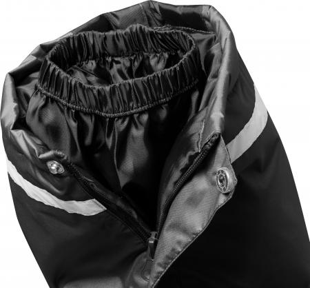 Pantalon zapada, impermeabil, bretele detasabile, unisex, Negru4