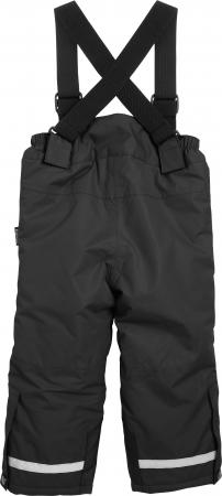 Pantalon zapada, impermeabil, bretele detasabile, unisex, Negru1