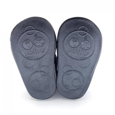 Pantofi eleganti, piele lacuita, fete, Negru/Floare alba, Skyler4