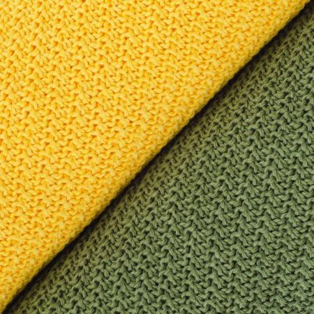 PATURICA CROSETATA BUMBAC 50%, BAMBUS 50 % 100*80 - verde inchis1