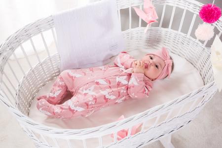 Pijama tip salopeta intreaga cu talpa bumbac 100%_roz_Sky1