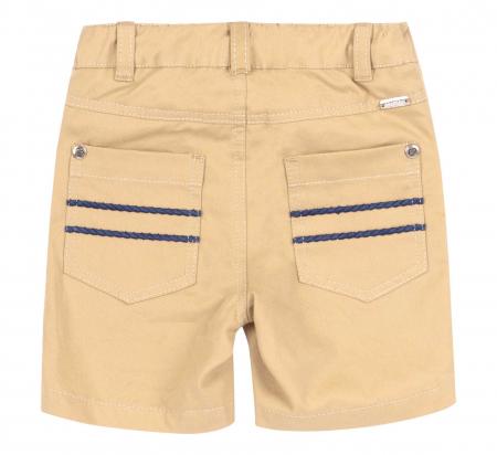 Pantalon casual 3/4 cu buzunare, bumbac 100%, baieti, Bej/Vaporas [1]