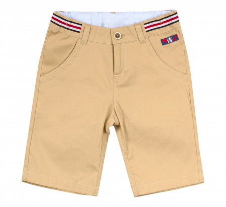 Pantalon casual 3/4 cu buzunare, bumbac 100%, baieti, Bej/Ancora [0]