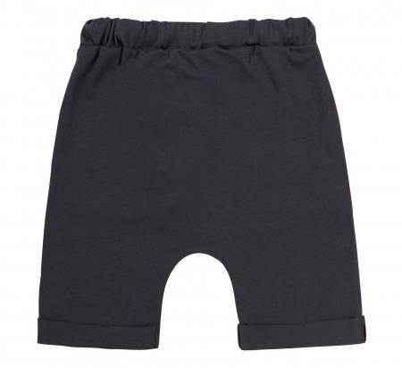 Pantalon 3/4 subtire, cu buzunare, bumbac 100%, baieti, Gri inchis [1]