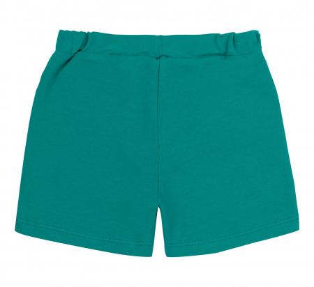 Pantalon scurt cu buzunare, bumbac 100%, fete, Verde intens [1]