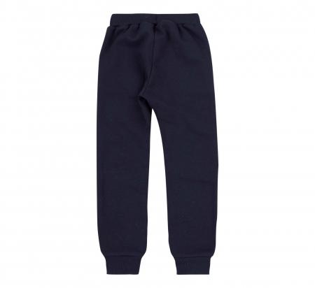 Pantalon trening cu buzunare, baieti, Bleumarin/Red bus [1]
