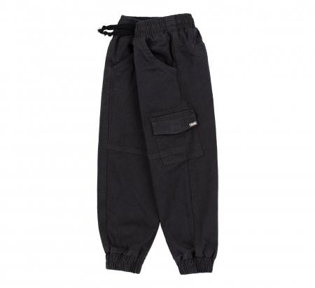Pantalon lung tip blugi, Bumbac 100%, baieti, Bleumarin [3]