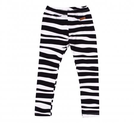 Pantalon lung, leggings, Alb/Negru, Safary [0]
