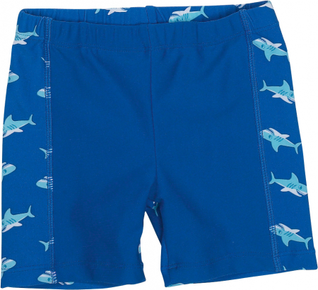 Slip de baie tip boxer, protectie UV 50+, baieti, Albastru/Shark [0]