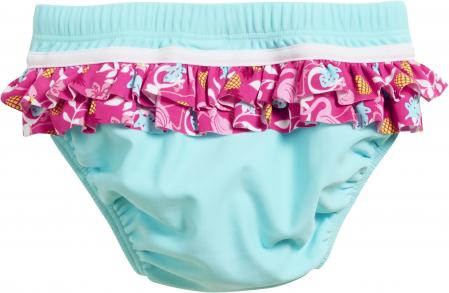 Slip de baie tip chilot, protectie UV 50+_fete_Turcoise/Flamingo [1]