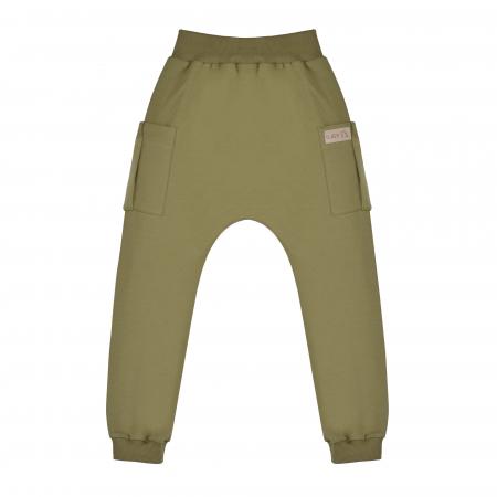 Pantalon trening cu buzunare, baieti, Verde/Kaki0