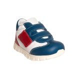 Pantofi sport din piele, talpa flexibila, baieti, Alb/Albastru/Rosu, Tokyo Mix0
