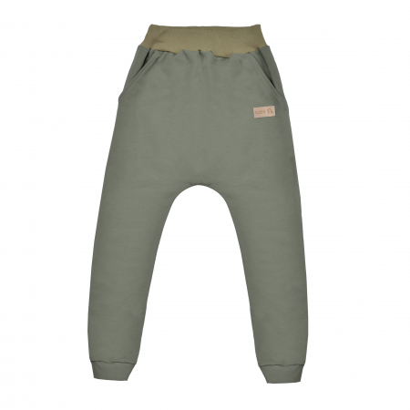 Pantalon lung cu buzunare, unisex, Verde/Kaki, Seven Heaven [0]