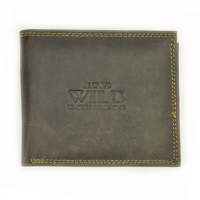Portofel barbati din piele naturala Wild N992-CHM RFID 0