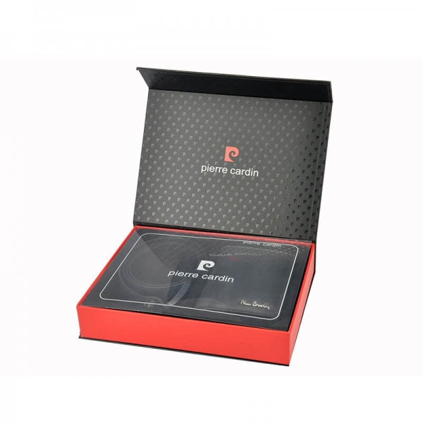 Set cadou barbati portofel si curea barbati din piele naturala Pierre Cardin, PBS343 [4]
