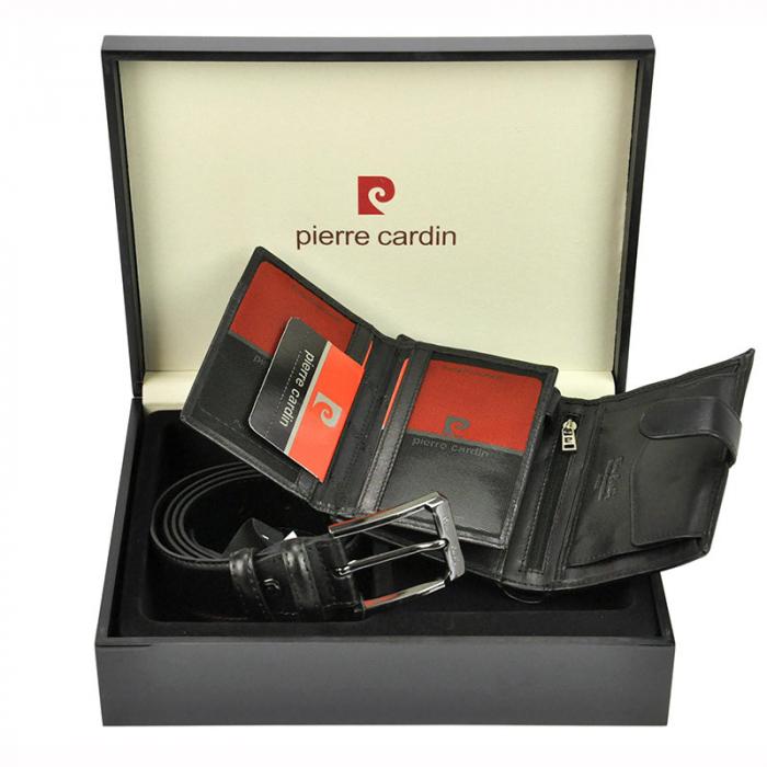 Set cadou barbati Pierre Cardin, portofel + curea, ZG-75 PREMIUM 3