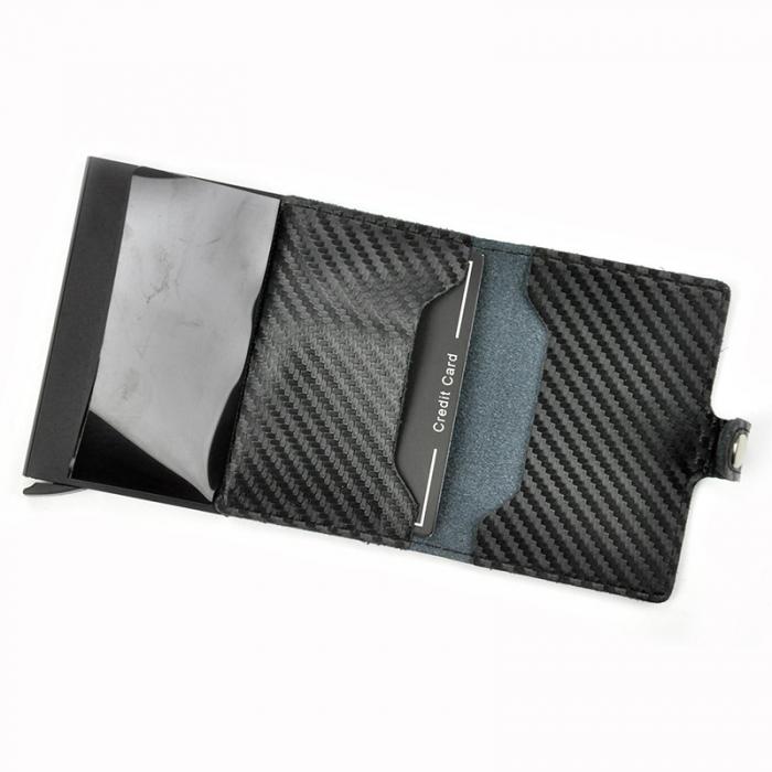 Portcard barbati din piele naturala PB2502, cu protectie RFID 11