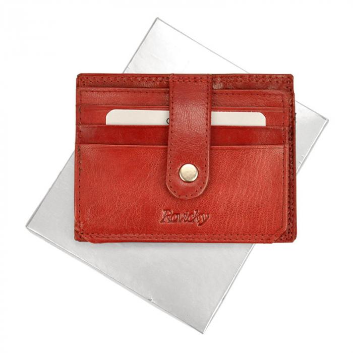 Portcard barbati din piele naturala Rovicky N1902-RVTK 5