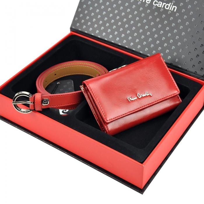 Set cadou dama portofel si curea dama din piele naturala Pierre Cardin, PDS602 [1]