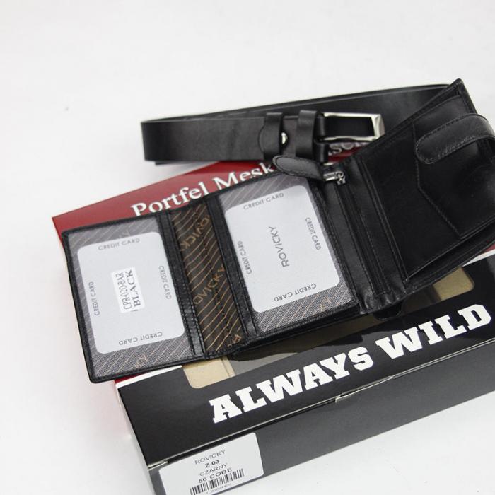 Set cadou barbati portofel si curea barbati din piele naturala Rovicky Z-03 [2]