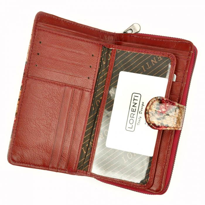 Portofel dama din piele naturala Lorenti 76116-DR RFID [4]