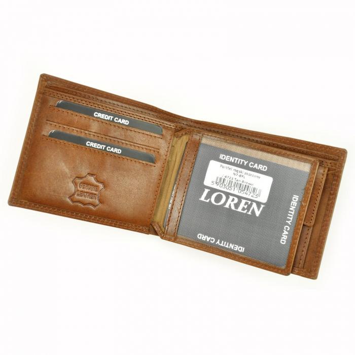 Portofel barbati din piele naturala Loren N7-BFL RFID [4]