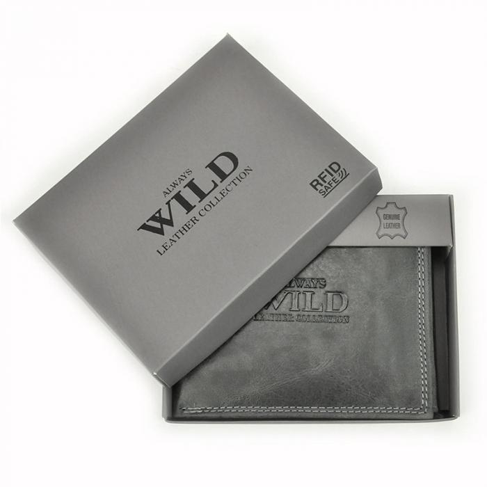 Portofel barbati din piele naturala Wild N992-CHM RFID 6