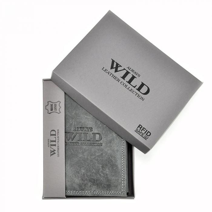 Portofel barbati din piele naturala Wild N4-CHM RFID 8