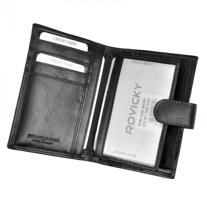 Portofel barbati din piele naturala Rovicky N74L-RVT RFID [5]