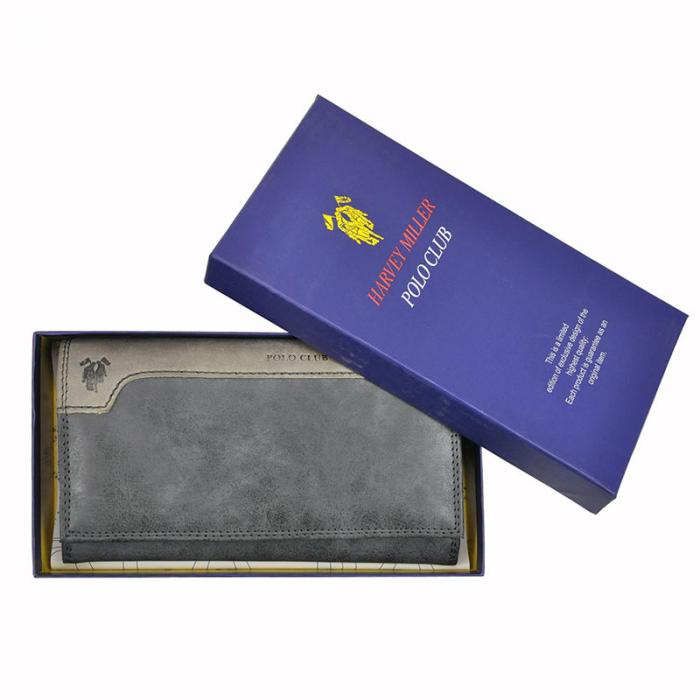 Portofel dama din piele naturala Harvey Miller Polo Club 1501 895 [10]