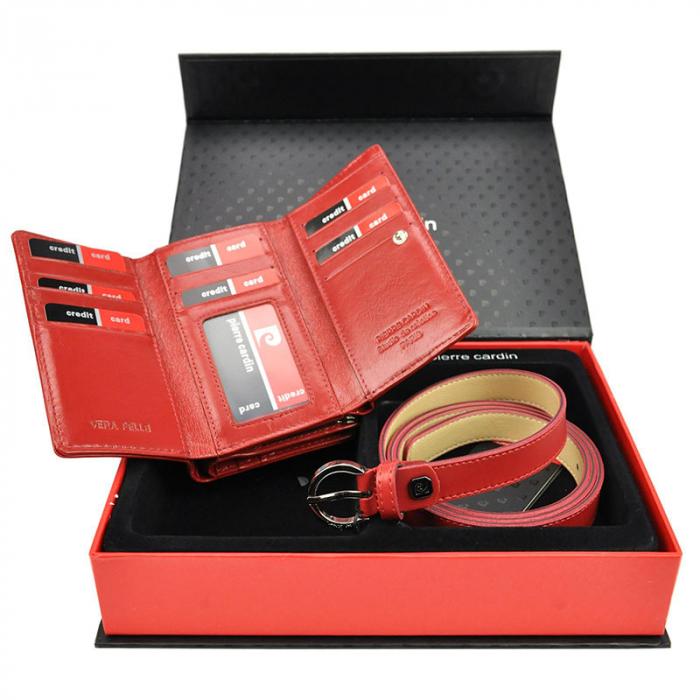 Set cadou dama portofel si curea dama din piele naturala Pierre Cardin ZG-W-07 [1]