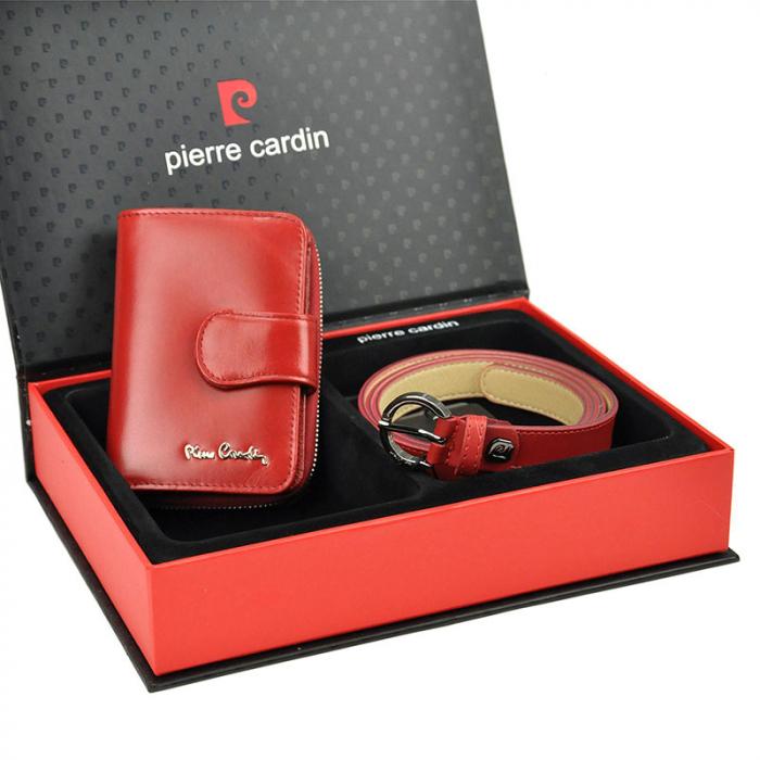 Set cadou dama portofel si curea dama din piele naturala Pierre Cardin ZG-W-06 [1]