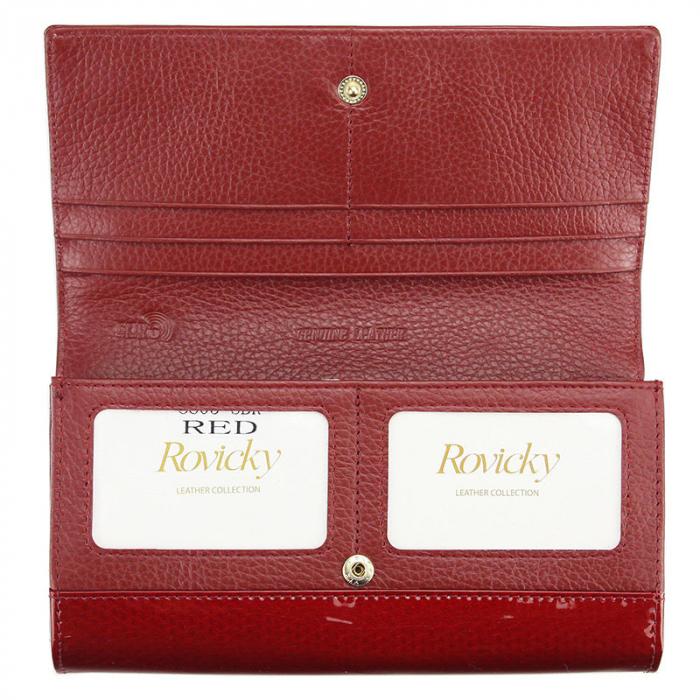 Portofel dama din piele naturala Rovicky 8803-SBR RFID 1