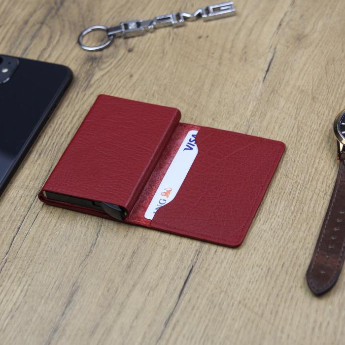 Portcard barbati din piele naturala PB2505, cu protectie RFID 3