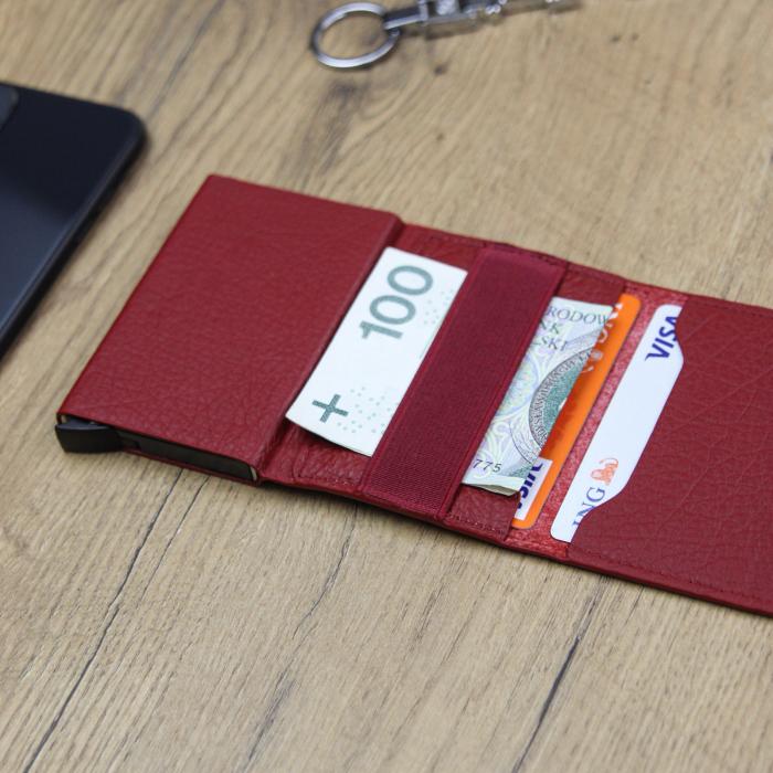 Portcard barbati din piele naturala PB2505, cu protectie RFID 2