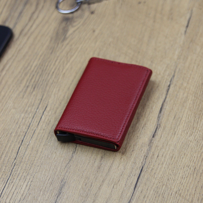 Portcard barbati din piele naturala PB2505, cu protectie RFID 6