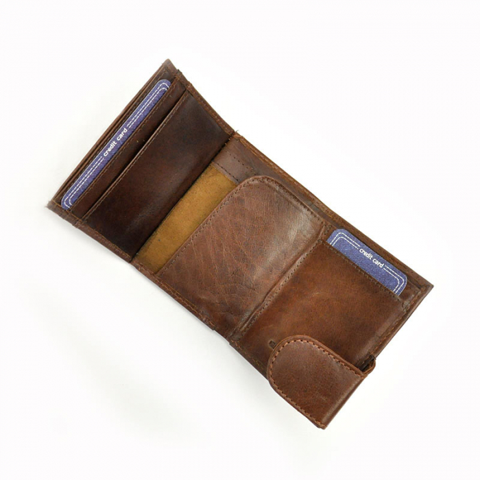 Portcard barbati din piele naturala Wild BUFFALO CC1-BWJ RFID [5]