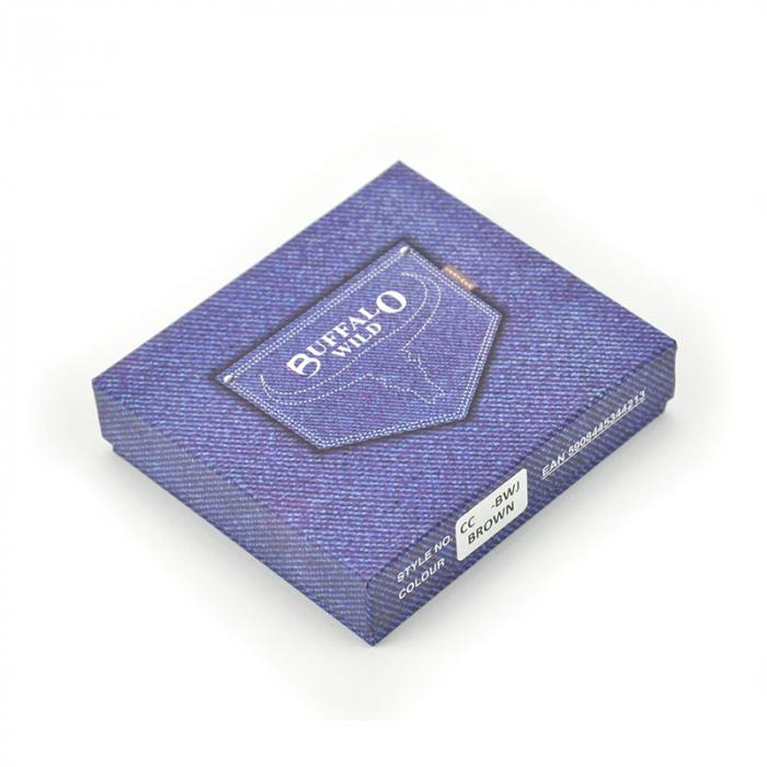 Portcard barbati din piele naturala Wild BUFFALO CC1-BWJ RFID [7]