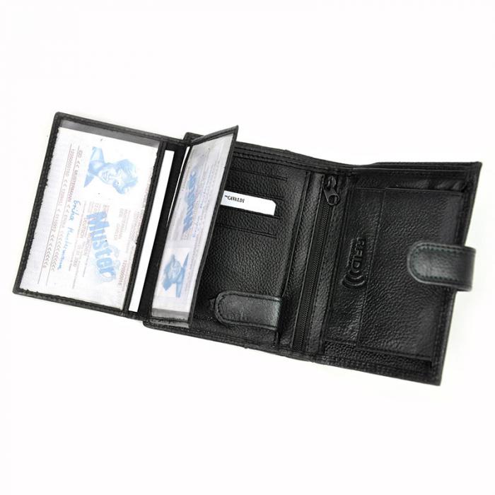 Portofel barbati din piele naturala Cavaldi N4L-SCV RFID 5