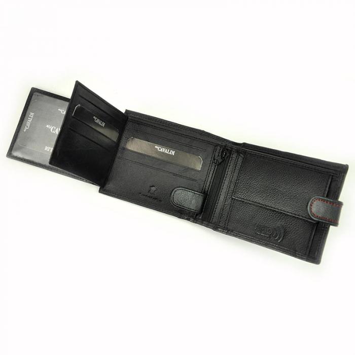 Portofel barbati din piele naturala Cavaldi N992L-SCV RFID 10