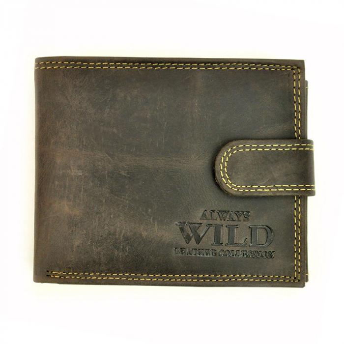 Portofel barbati din piele naturala Wild N992L-CHM RFID 10