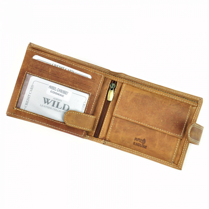 Portofel barbati din piele naturala Wild N992L-CHM RFID 3
