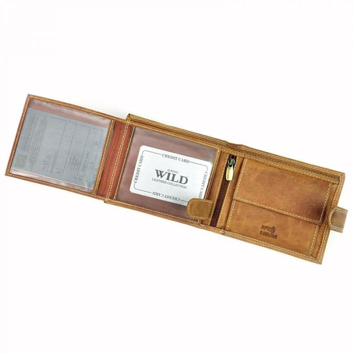 Portofel barbati din piele naturala Wild N992L-CHM RFID 4