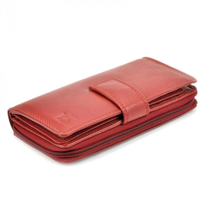 Portofel dama din piele naturala Money Kepper 12140 RFID 3