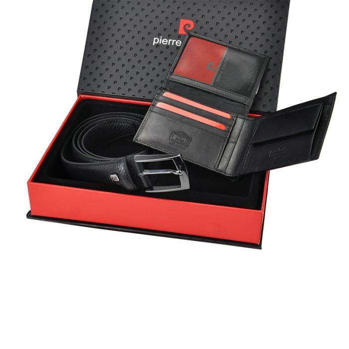Set cadou barbati portofel si curea barbati din piele naturala Pierre Cardin, PBS350 [2]