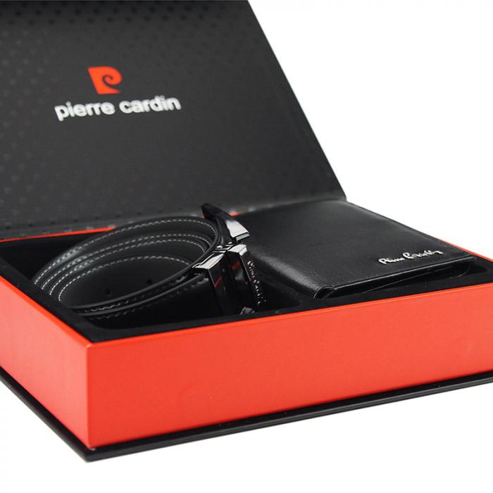 Set cadou barbati portofel si curea barbati din piele naturala Pierre Cardin, PBS701 1