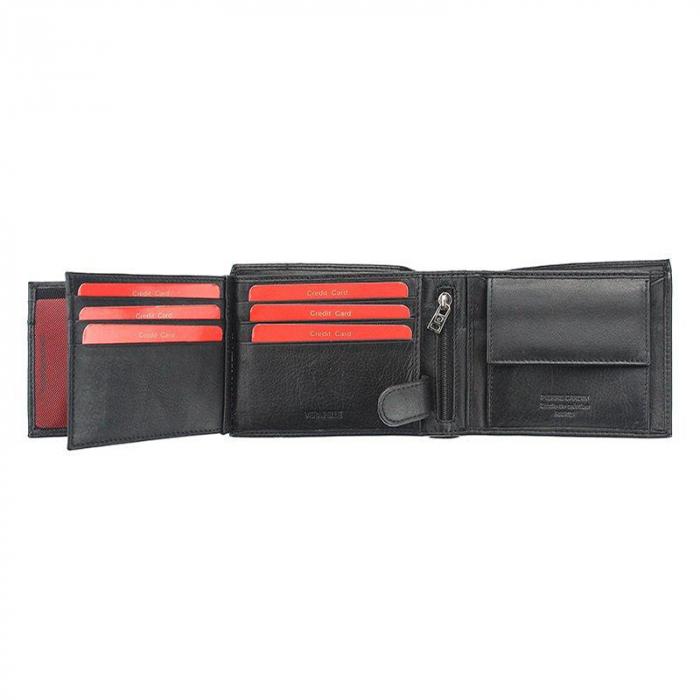 Set cadou barbati portofel si curea barbati din piele naturala Pierre Cardin, PBS702 6