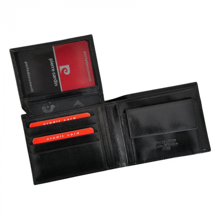 Set cadou barbati portofel si curea barbati din piele naturala Pierre Cardin, PBS703 10