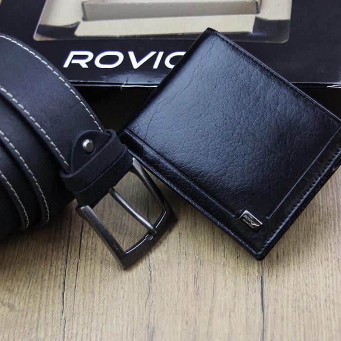 Set cadou barbati portofel si curea barbati din piele naturala Rovicky ZR-01 [4]