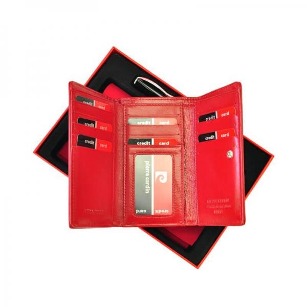Set cadou dama portofel din piele naturala si pix Pierre Cardin, PDS500 [1]